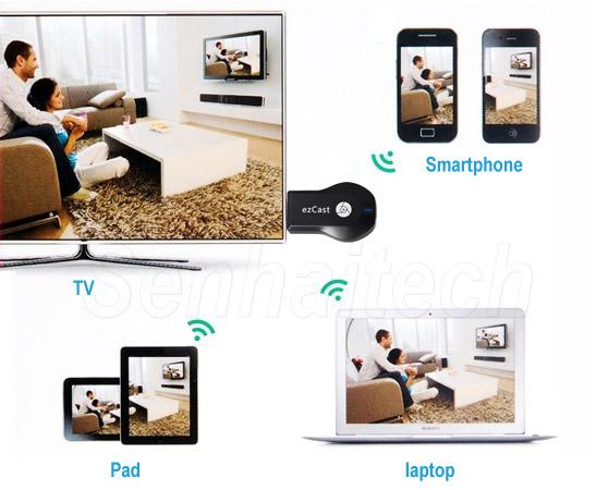 Miracast Dongle Adapter, DLNA Airplay Receiver, HDMI Smart TV Dongle - EZCast M2 Application