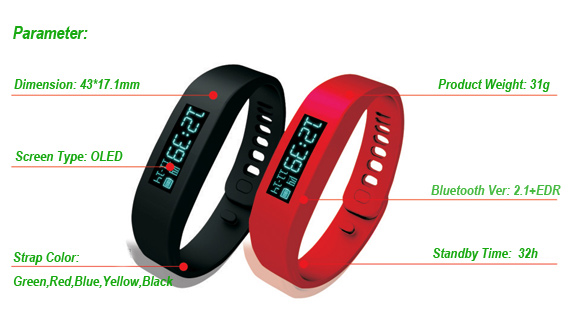 Pedometers Fitness Bracelet HFB01 Parameter_a