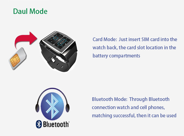 U8 Bluetooth Smart Wrist Watch Phone dual Mode